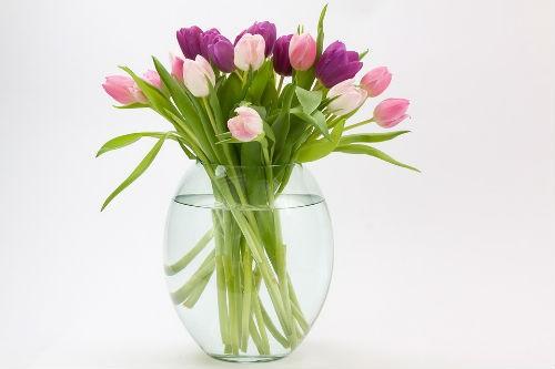 ramo de flores en casa